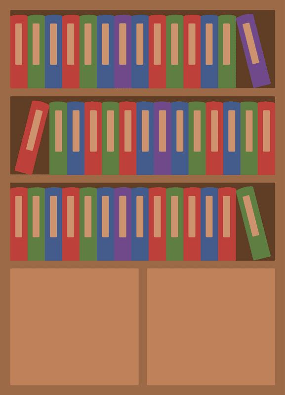 Bookshelf clipart transparent 5