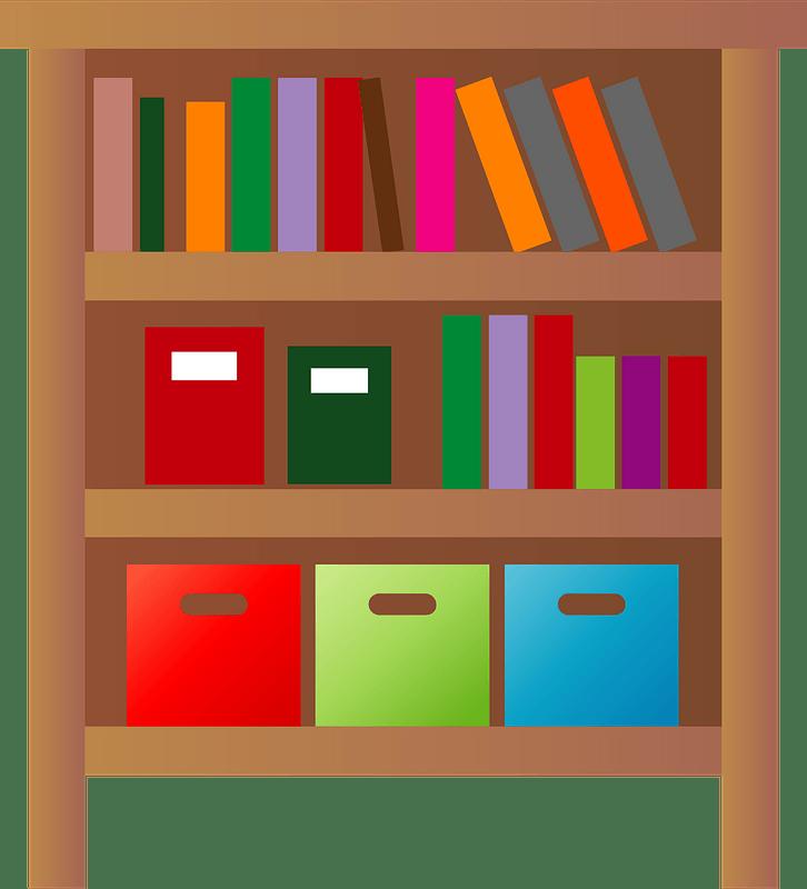 Bookshelf clipart transparent 8