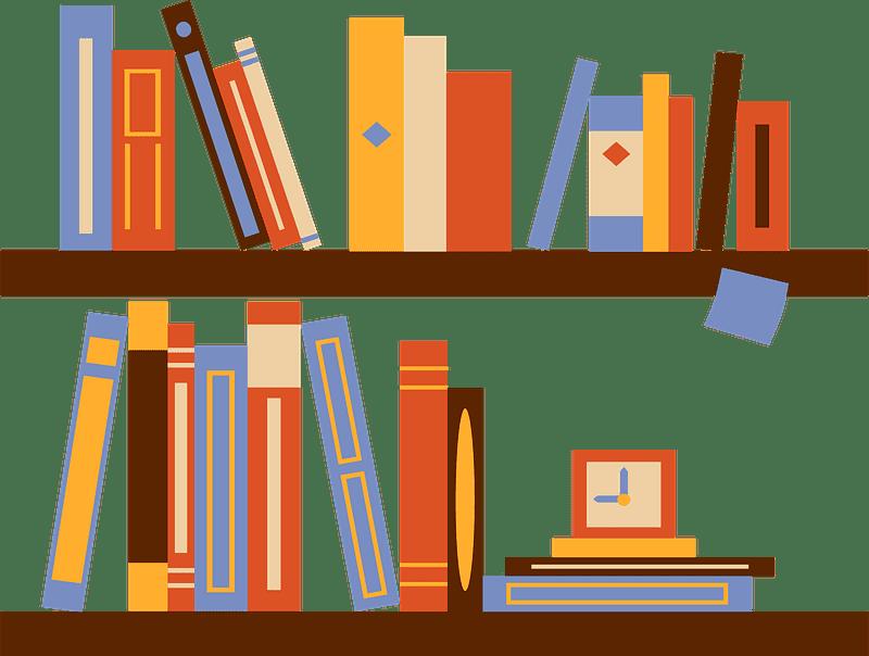 Bookshelf clipart transparent 9