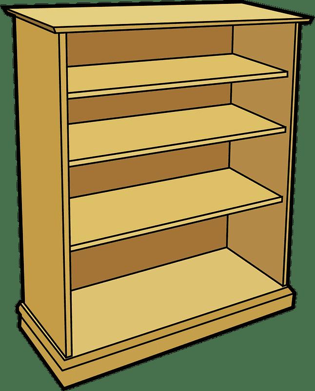 Bookshelf clipart transparent background 1