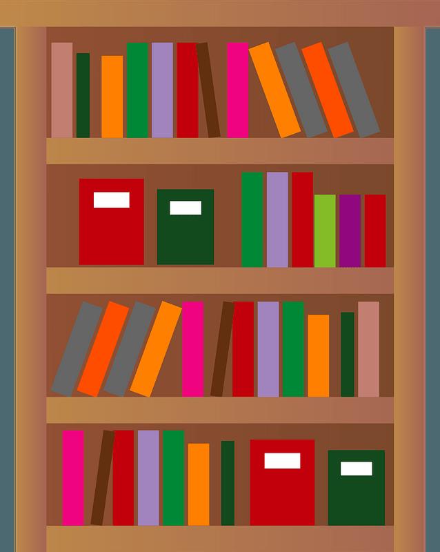 Bookshelf clipart transparent background 10