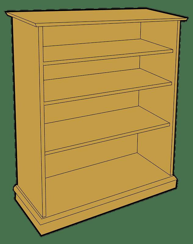 Bookshelf clipart transparent background 11