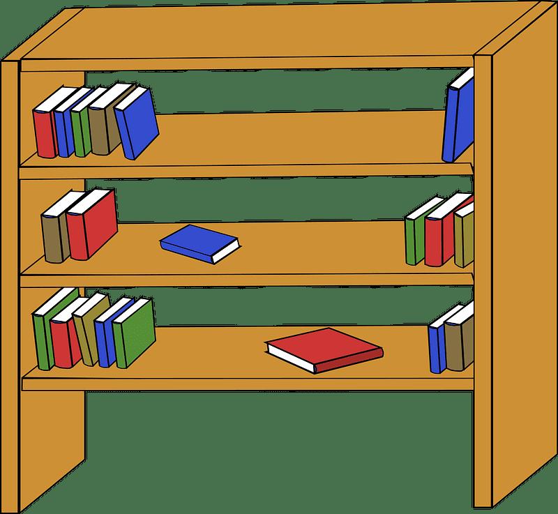 Bookshelf clipart transparent background 12