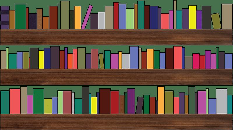 Bookshelf clipart transparent background 2