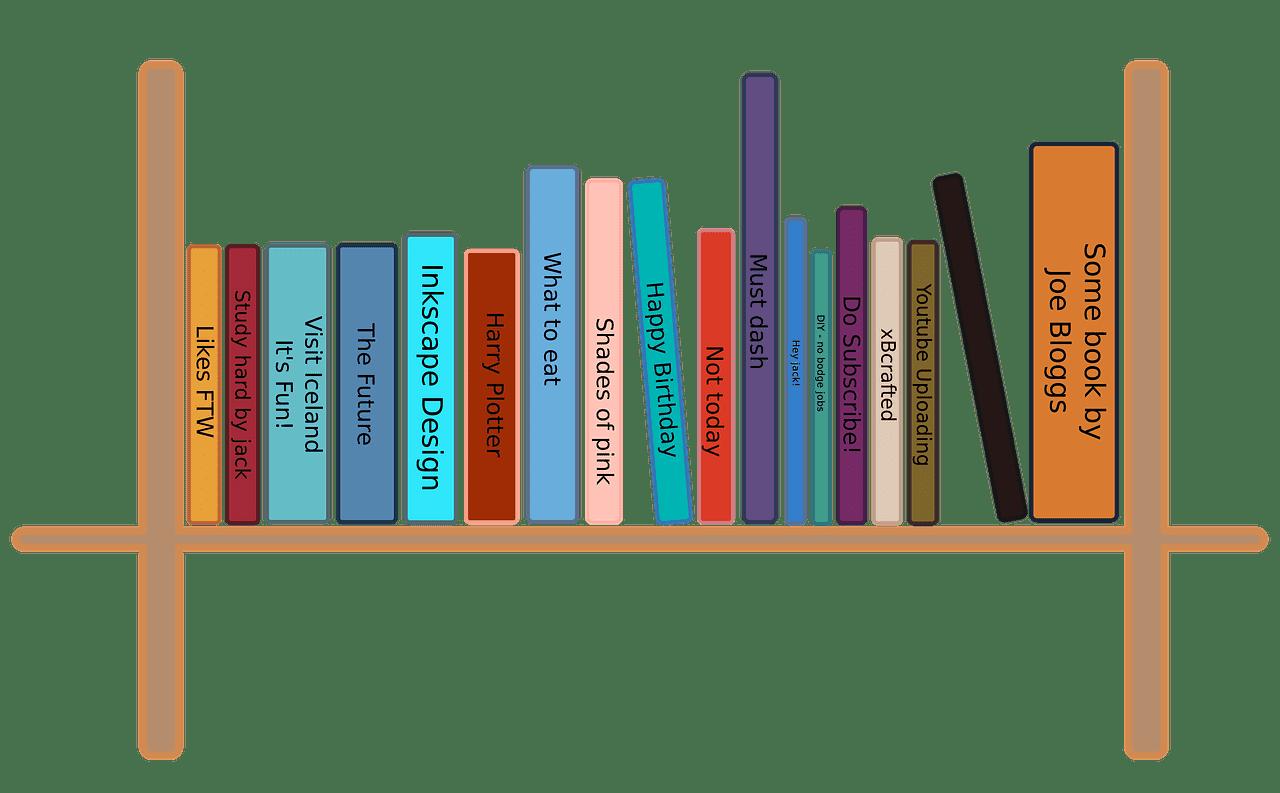Bookshelf clipart transparent background 9