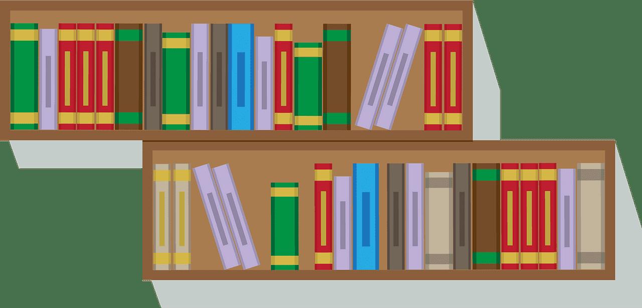 Bookshelf clipart transparent