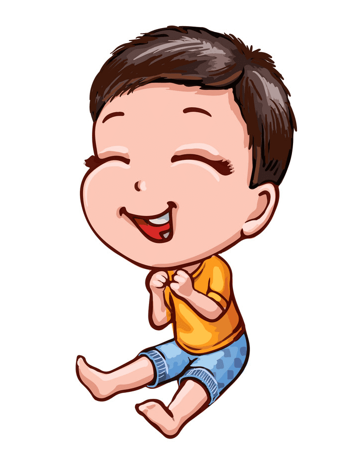 Boy Laughing clipart 1