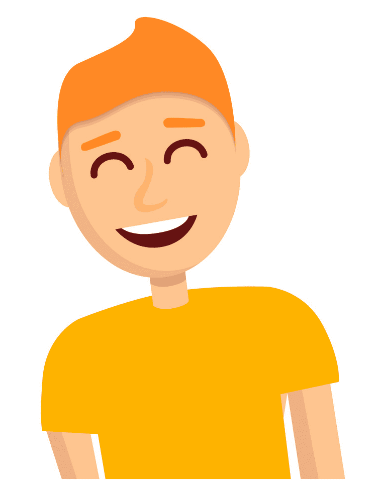 Boy Laughing clipart 10