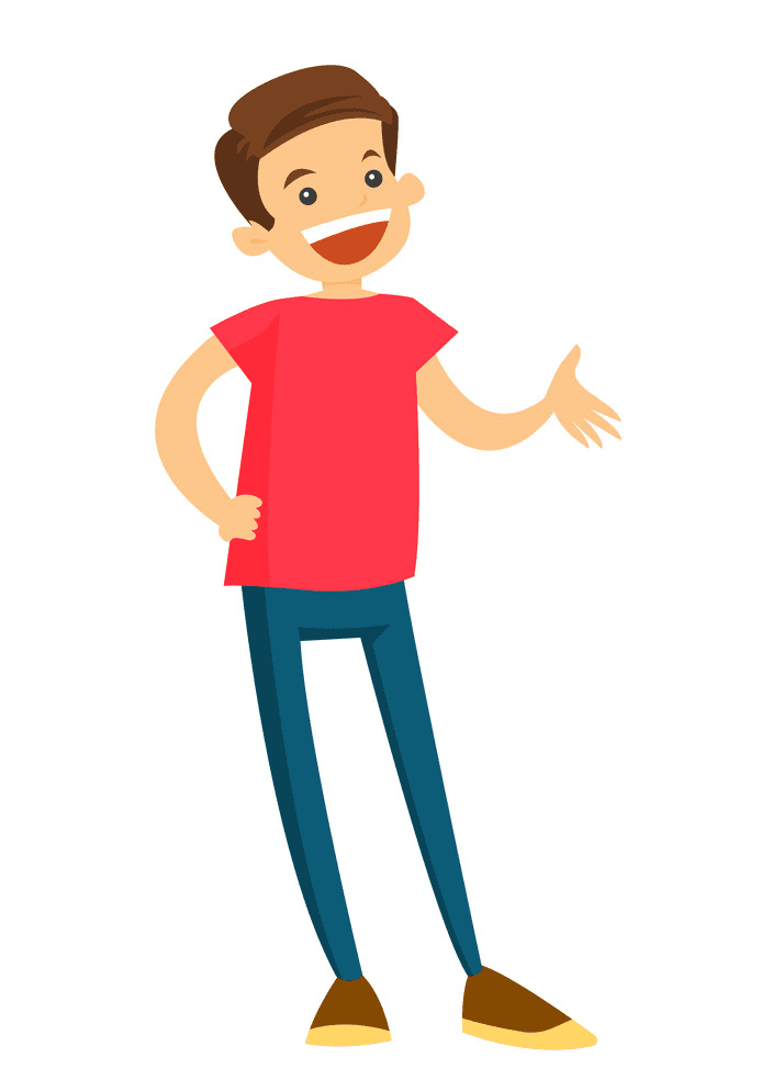 Boy Laughing clipart 2