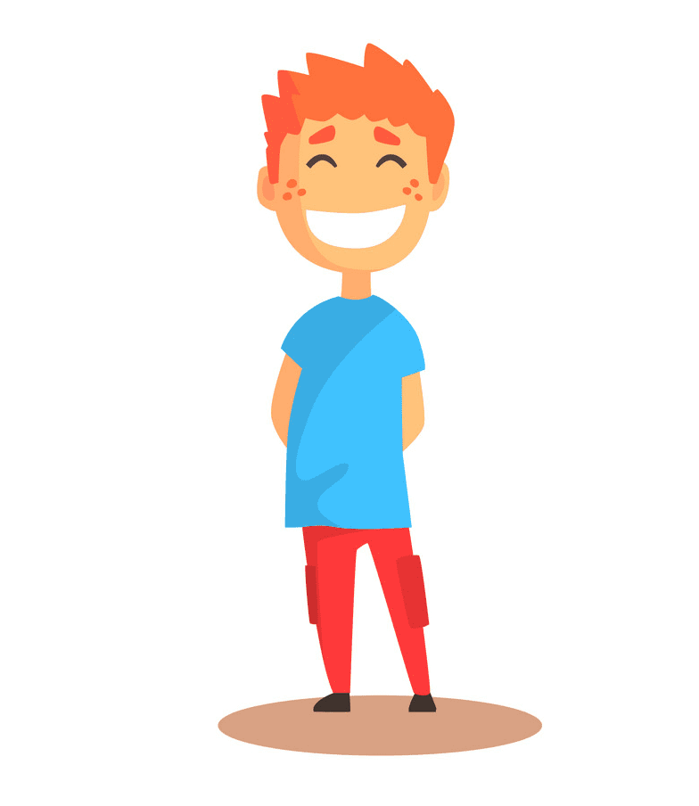 Boy Laughing clipart 3