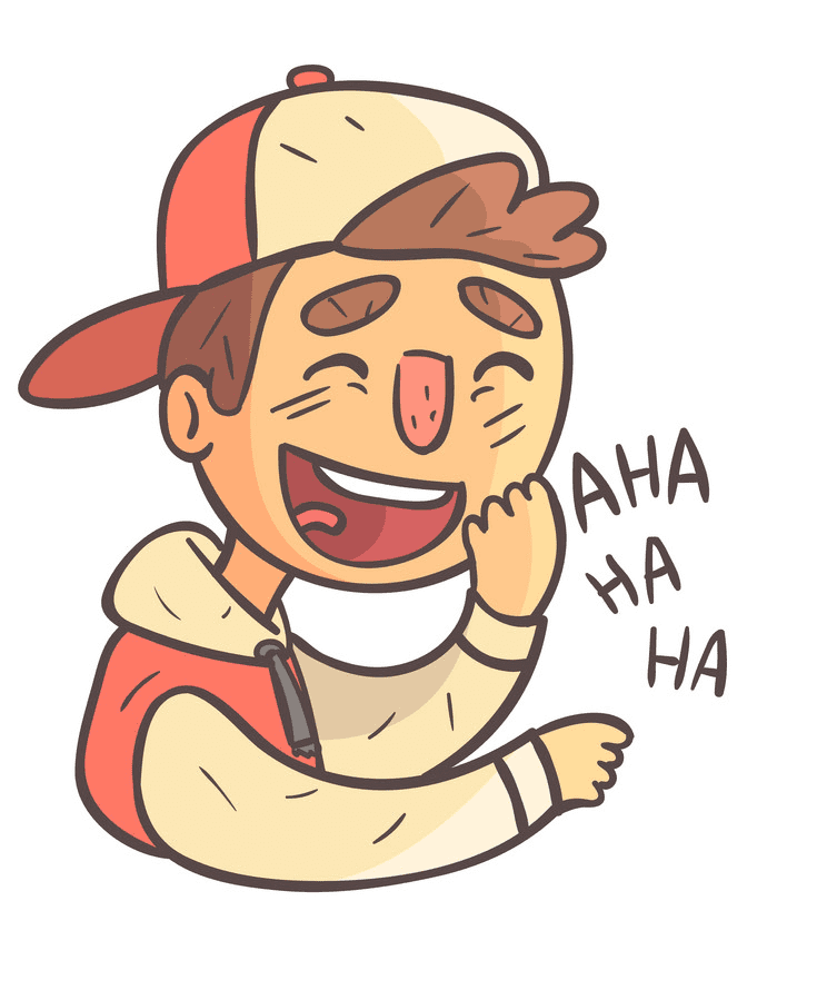 Boy Laughing clipart 6