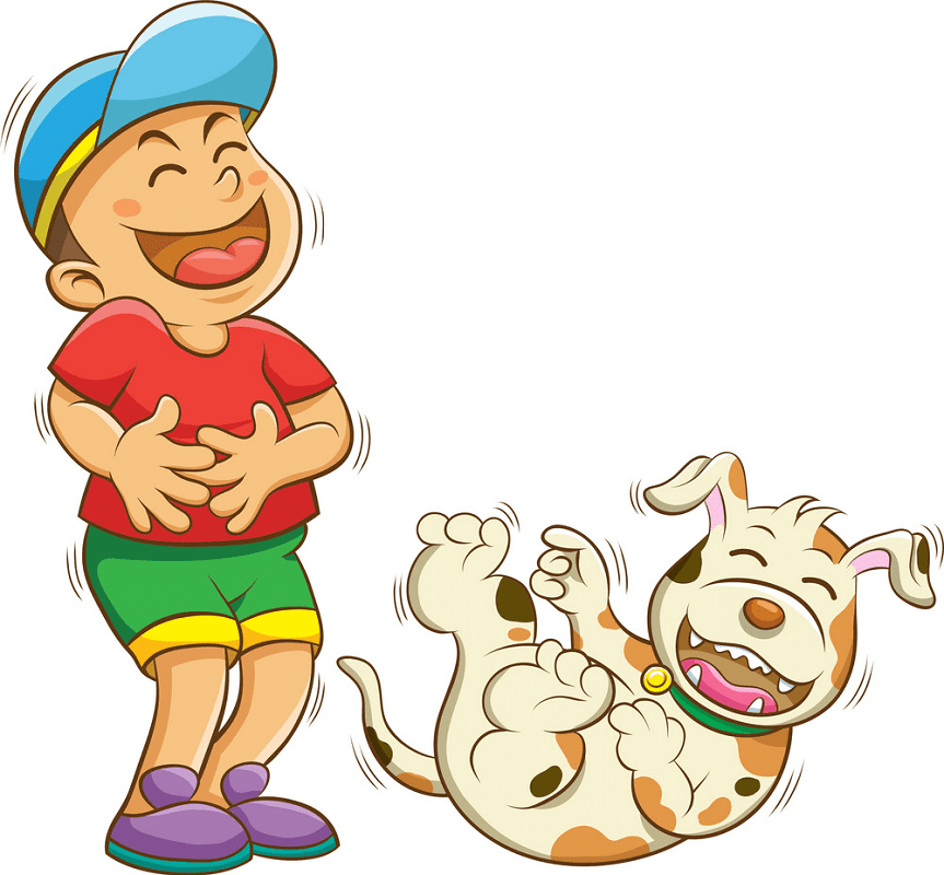 Boy Laughing clipart 9
