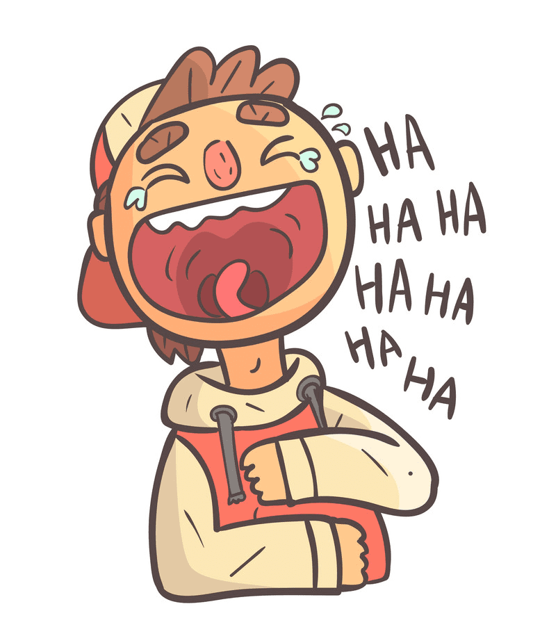 Boy Laughing clipart free 2