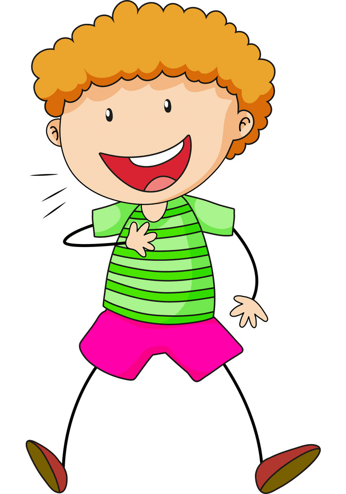 Boy Laughing clipart free 3