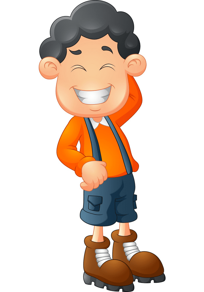 Boy Laughing clipart free 4
