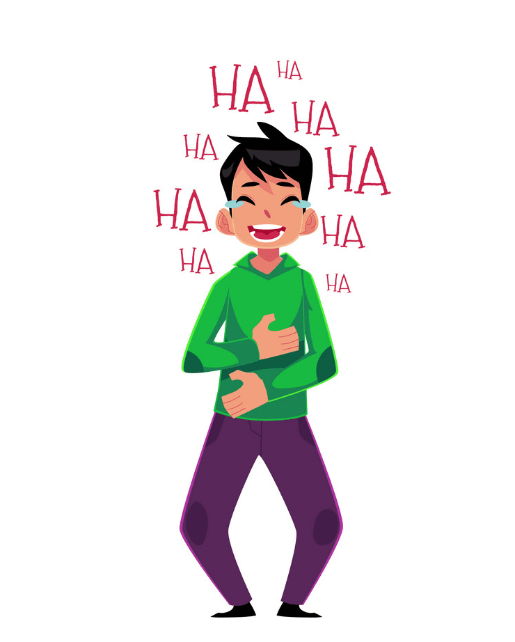 Boy Laughing clipart free 5