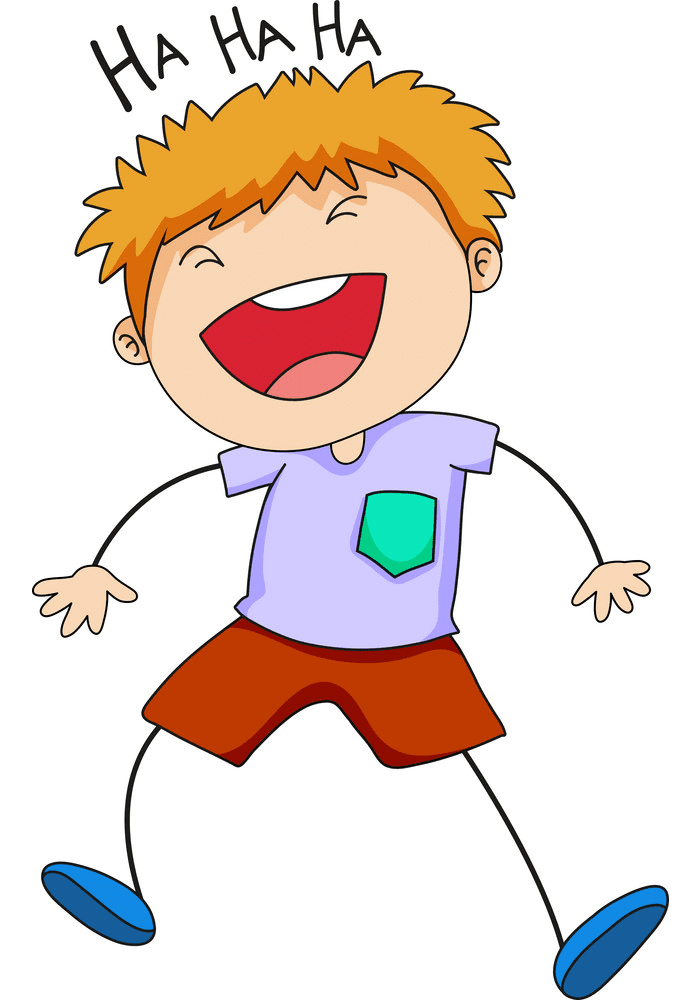 Boy Laughing clipart free
