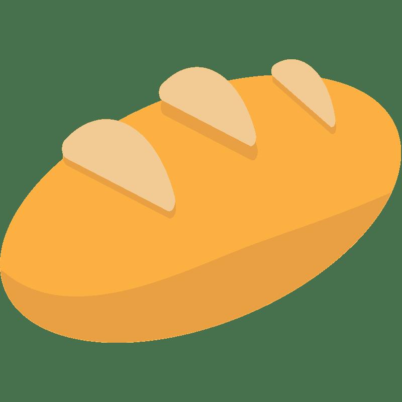 Bread clipart transparent background 2