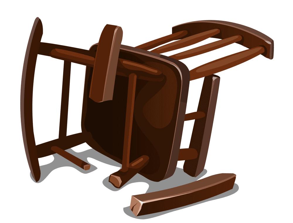 Broken Rocking Chair clipart