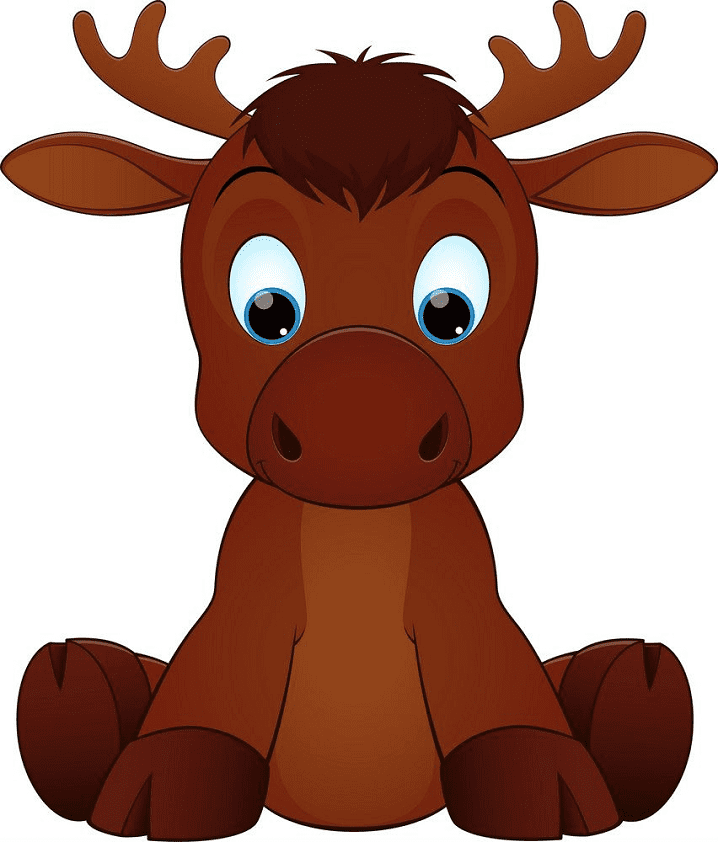 Bsby Moose clipart for free