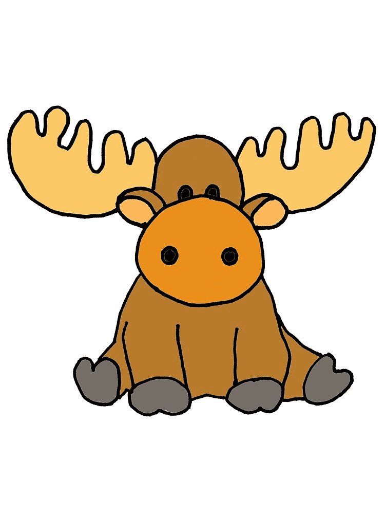 Bsby Moose clipart free