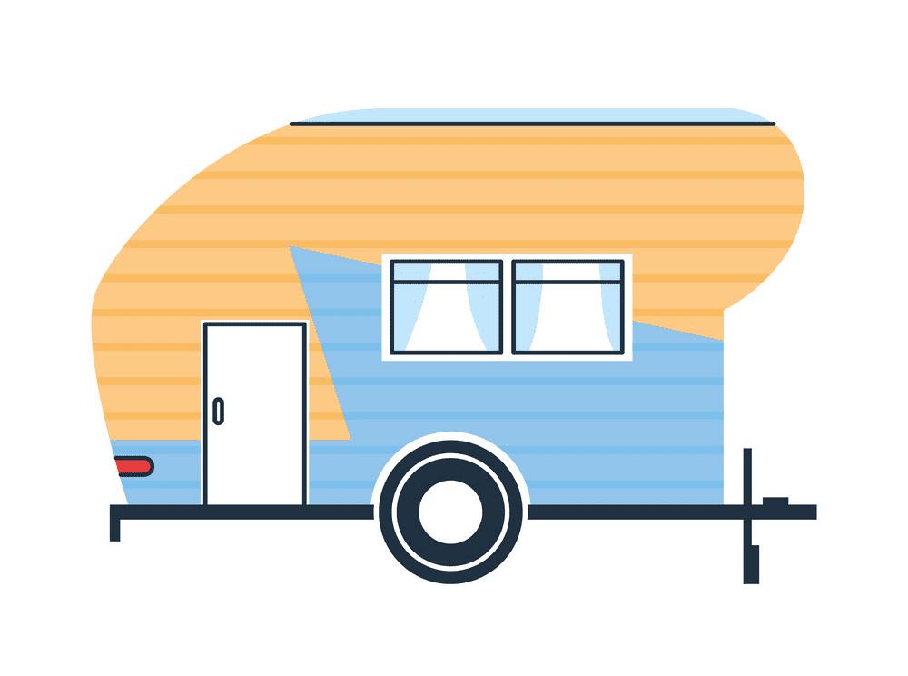 Camper Trailer clip art