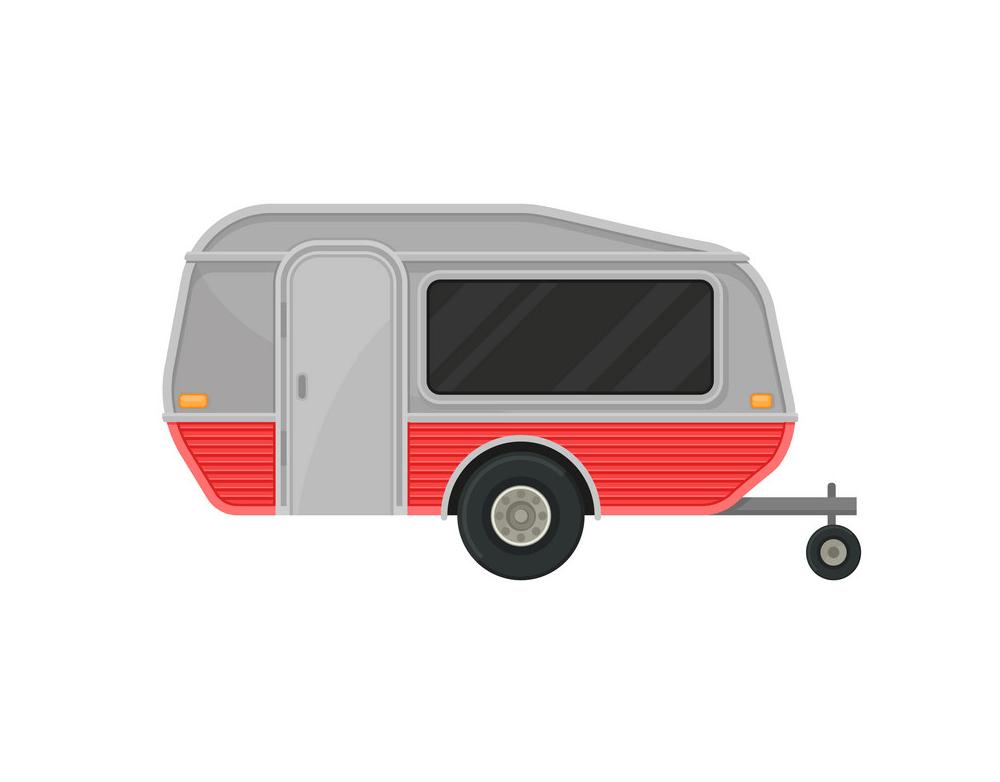 Camper Trailer clipart 1