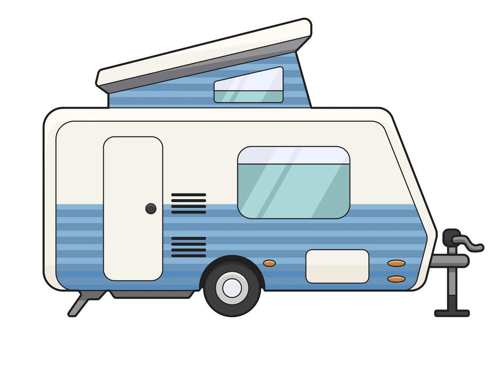 Camper Trailer clipart 2