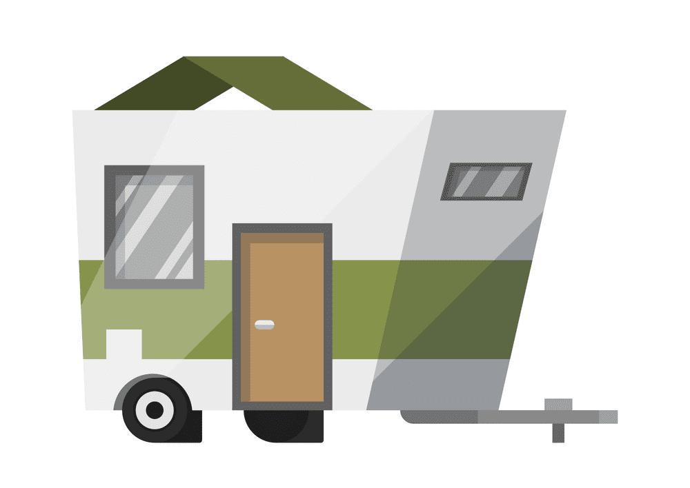 Camper Trailer clipart 3