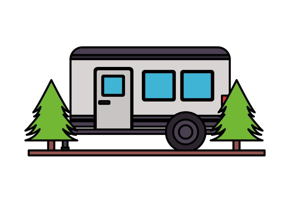Camper Trailer clipart 4