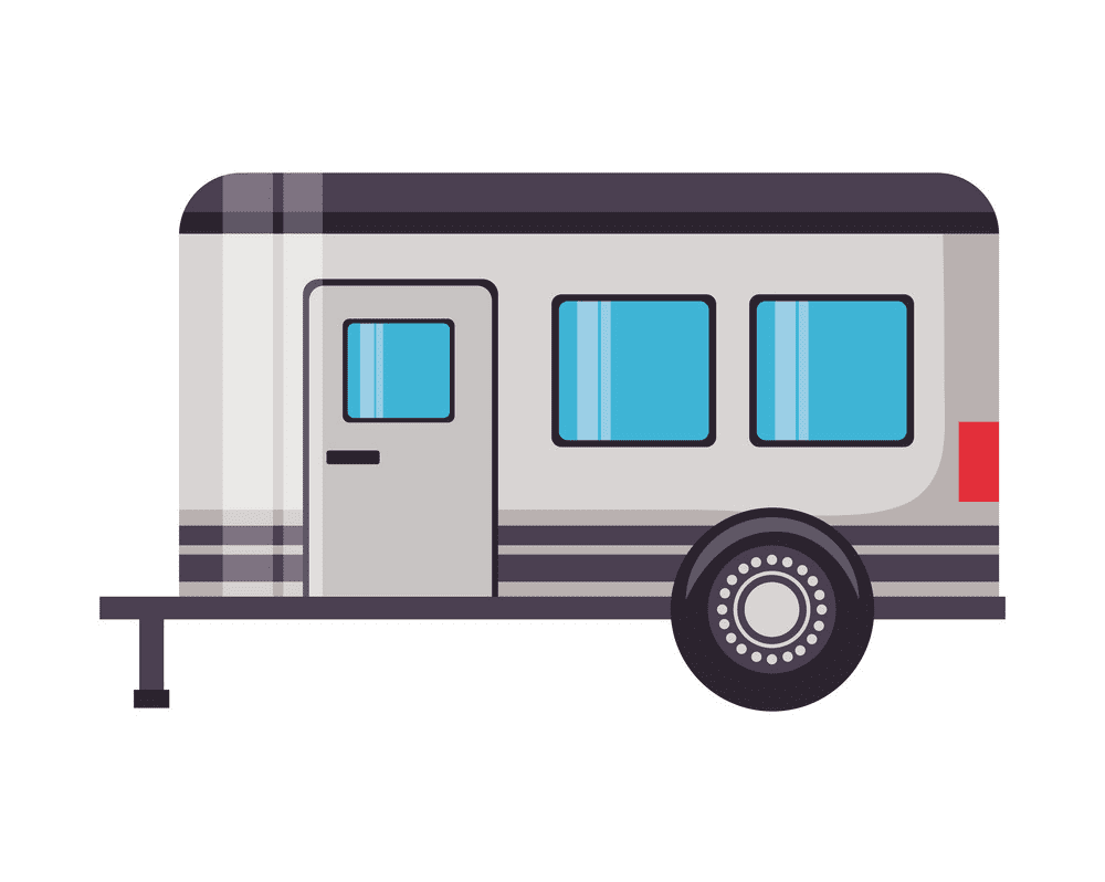 Camper Trailer clipart 6