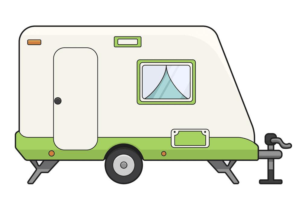 Camper Trailer clipart 7