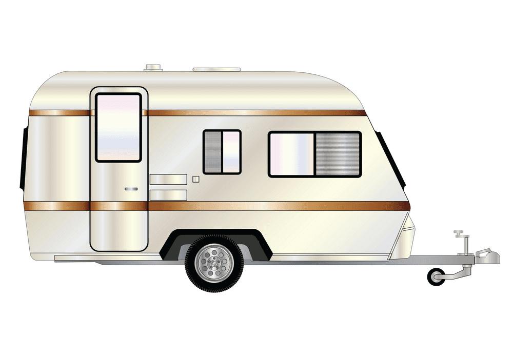 Camper Trailer clipart 8