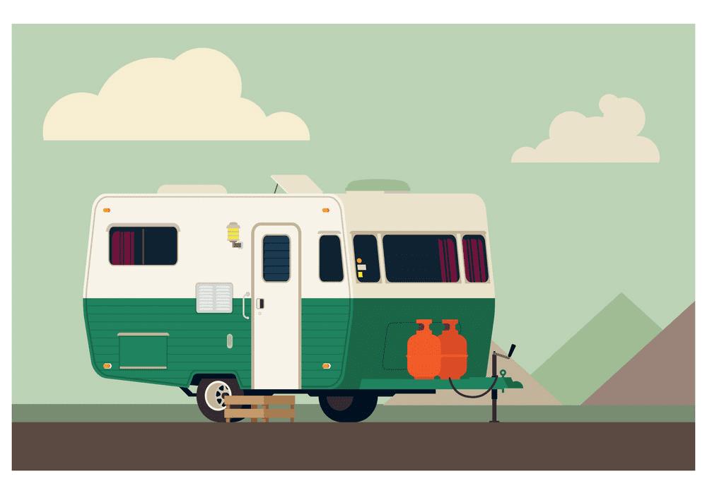 Camper Trailer clipart 9