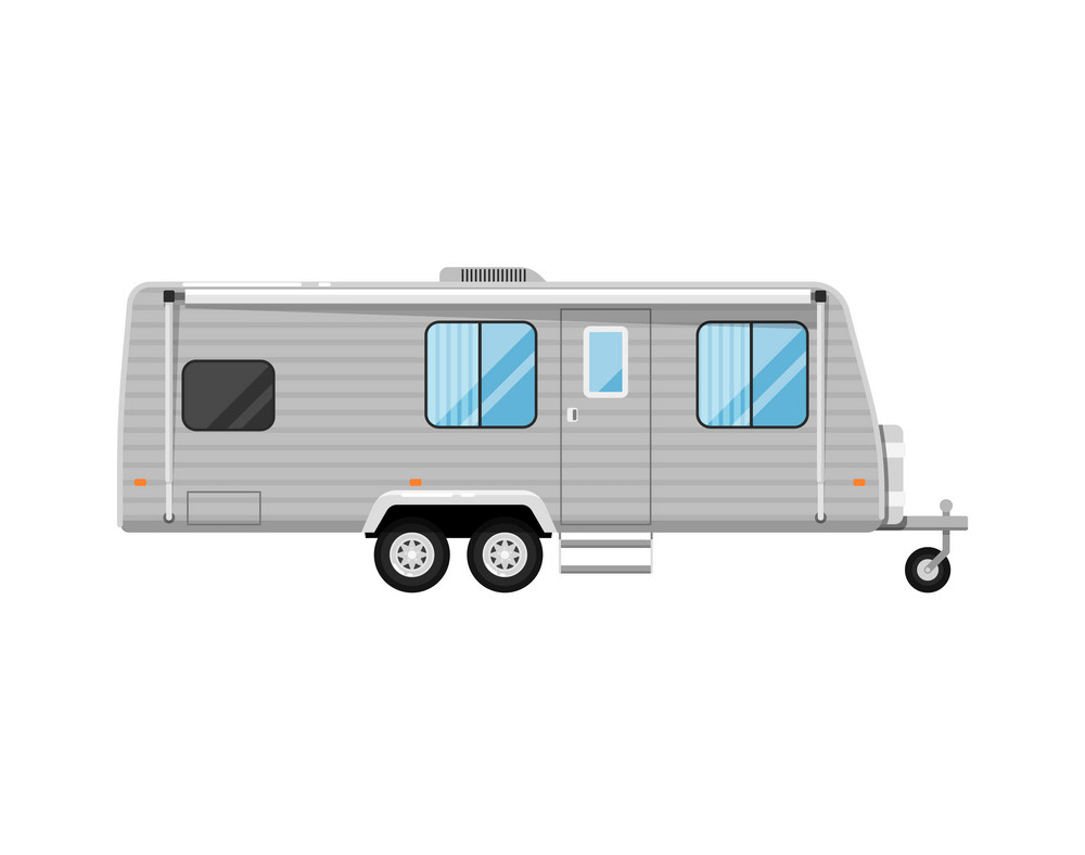 Camper Trailer clipart free image