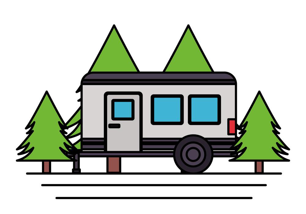 Camper Trailer clipart free images