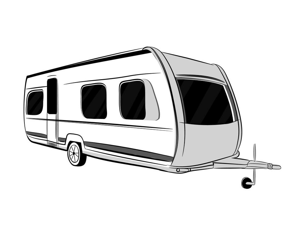 Camper Trailer clipart free