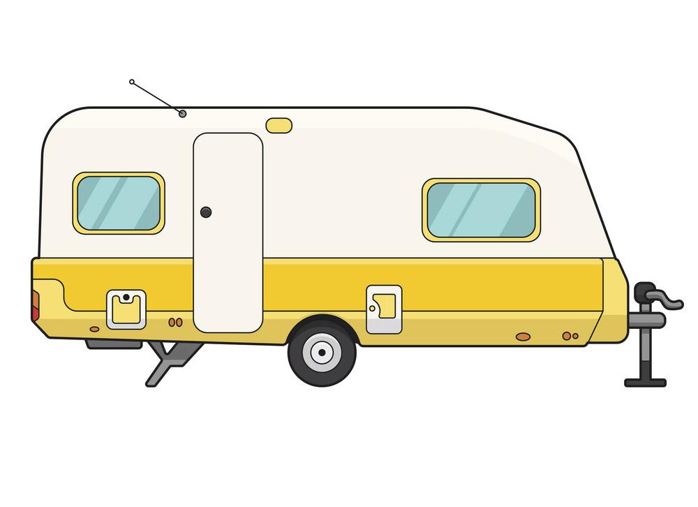 Camper Trailer clipart images