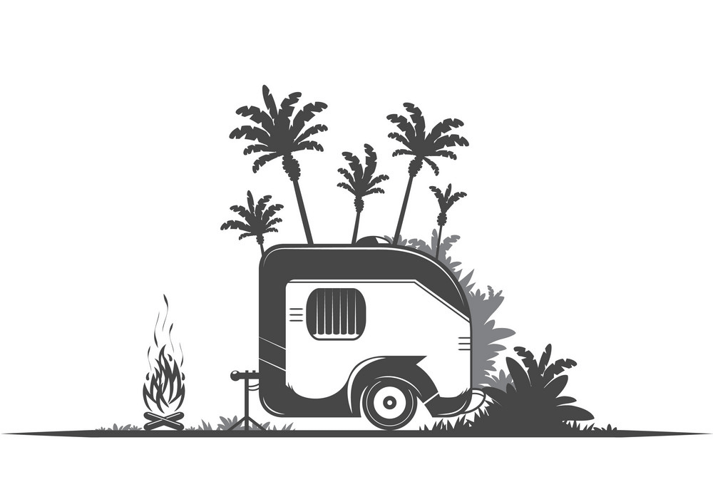 Camper Trailer clipart png free