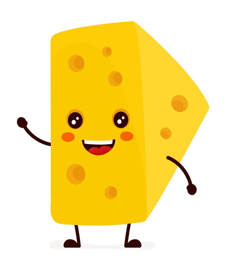Cartoon Cheese clipart