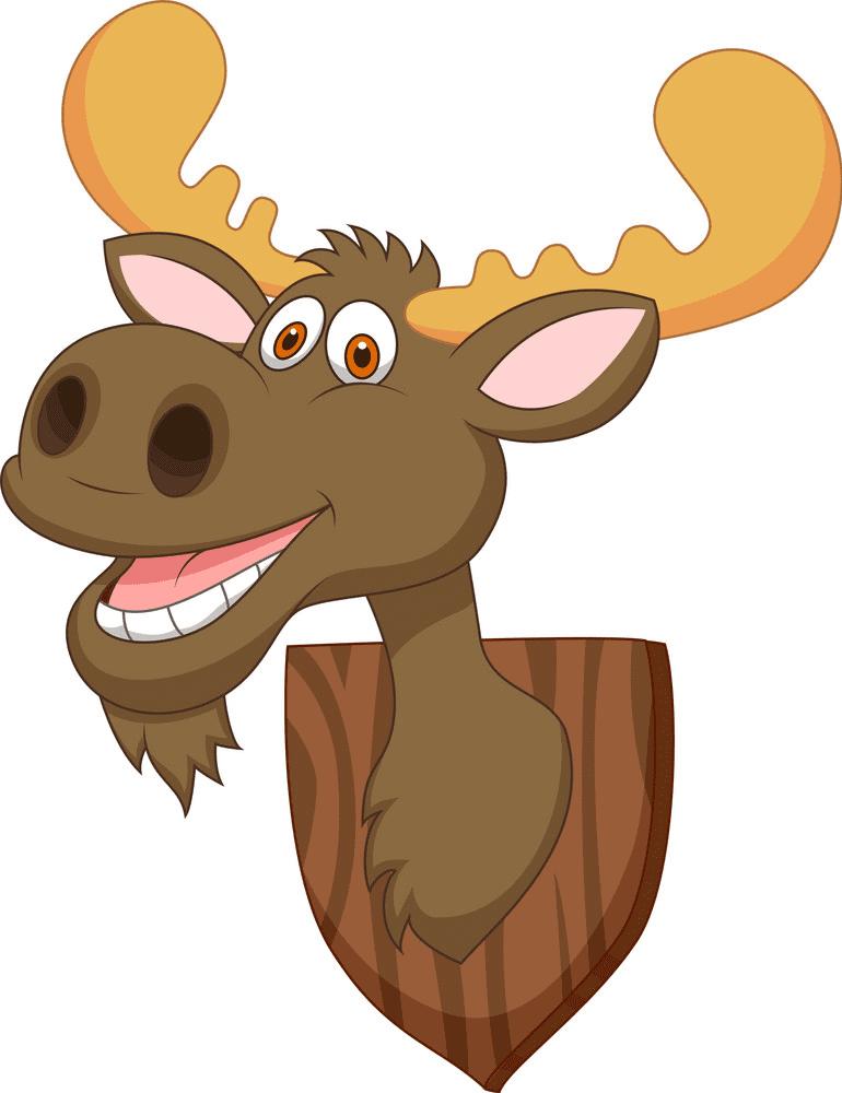 Cartoon Moose Head clipart