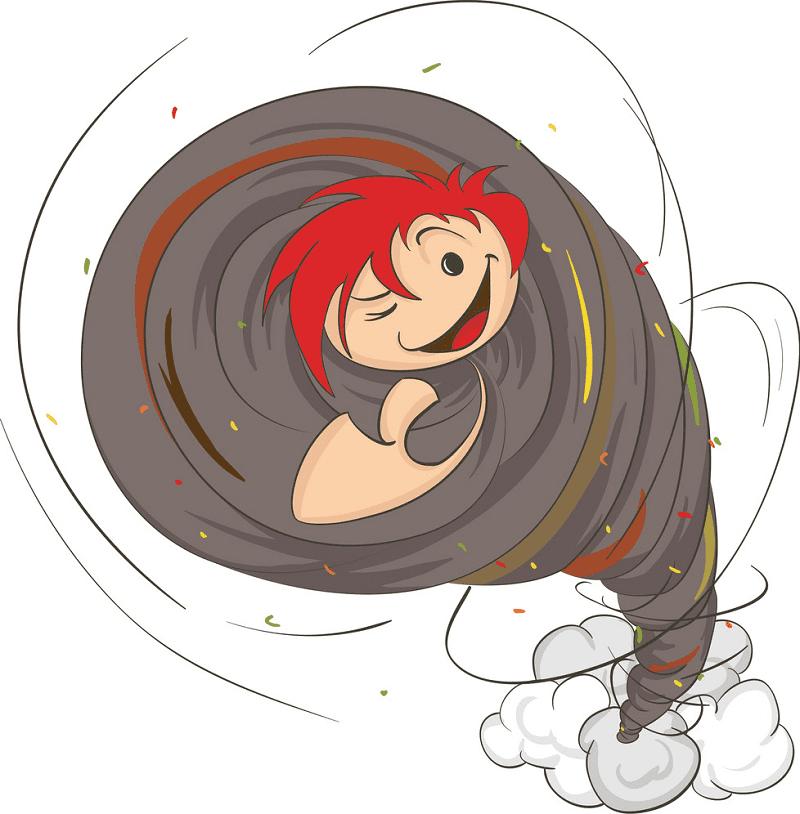 Cartoon Tornado clipart