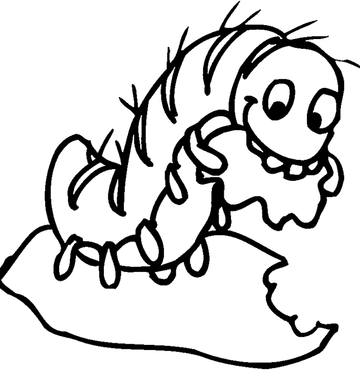 Caterpillar Clipart Black and White 1
