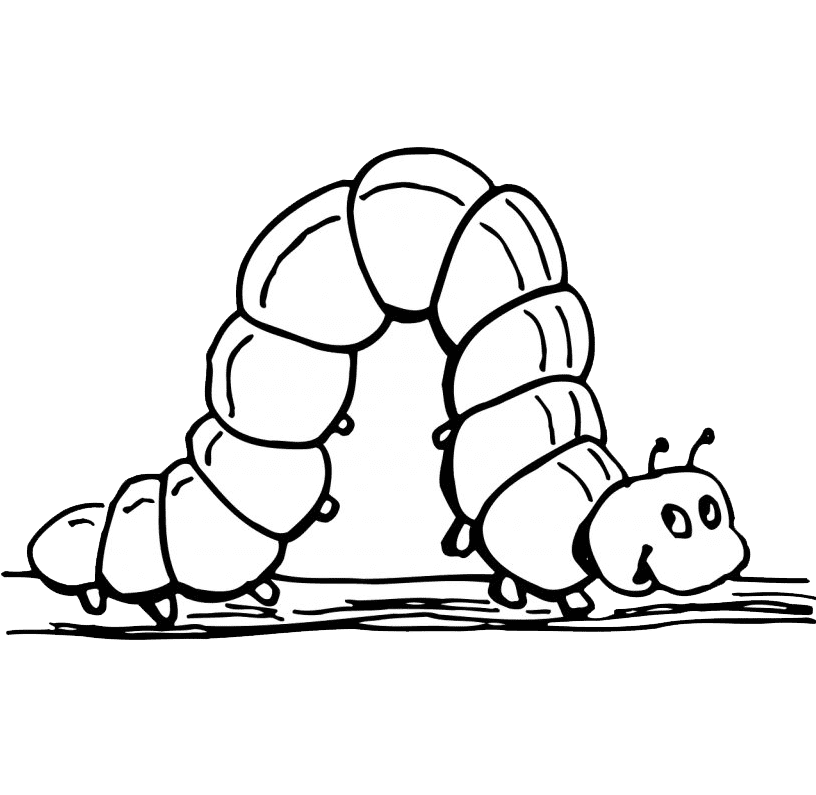Caterpillar Clipart Black and White 2