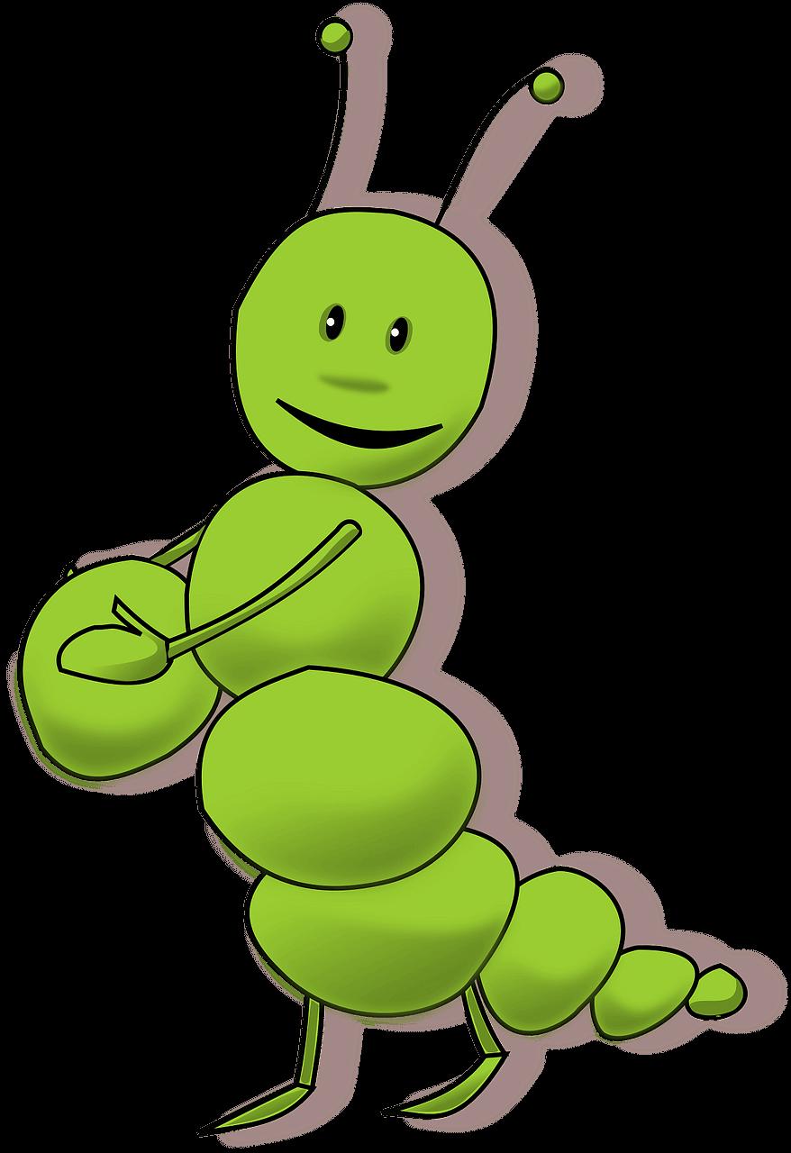 Caterpillar clipart transparent background 11