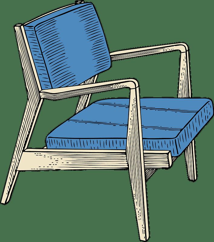 Chair clipart transparent background 4