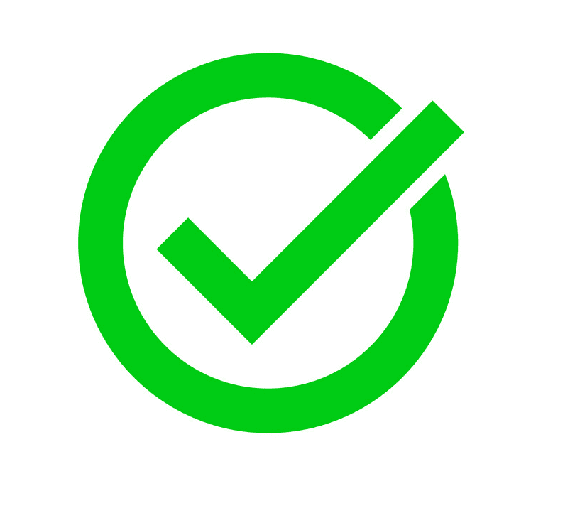 Check Mark clipart for free