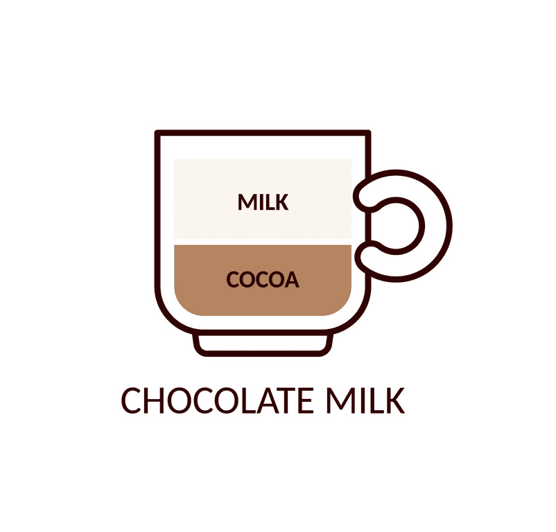 Chocolate Milk clipart png image