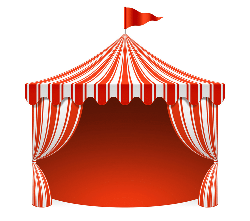 Circus Tent clipart for free
