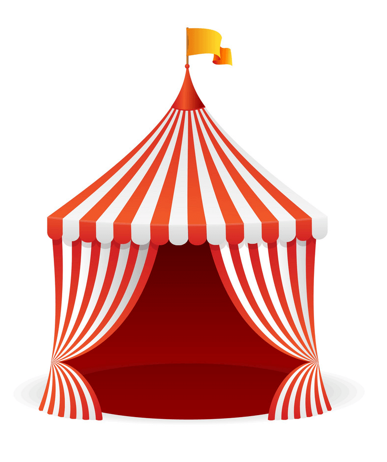 Circus Tent clipart free